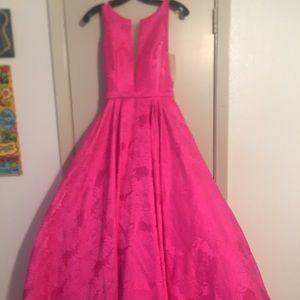 Sherri hill hot pink size 0 dress. Worn once.